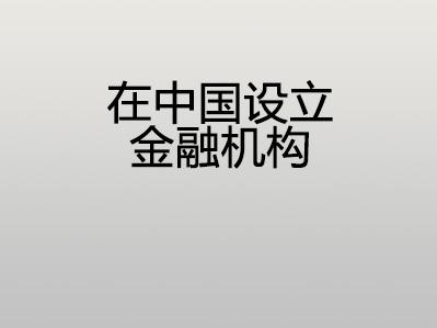 在中国设立金融机构
